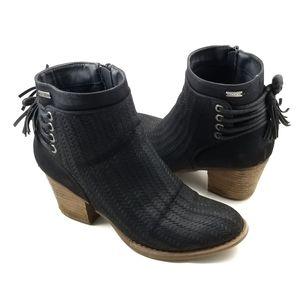 Roxy Black Bootie Womens Devon Boot Fall Zip 7.5